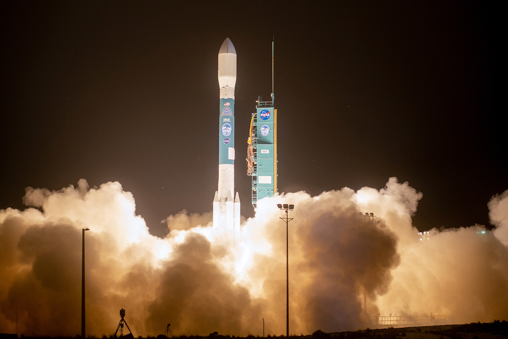 A ULA Delta II rocket carrying NASA's Ice, Cloud and land Elevation Satellite-2 (ICESat-2) mission lifts off from Space Launch Complex-2 at Vandenberg Air Force Base, CA., on Sept. 15, 2018. Photo by United Launch Alliance