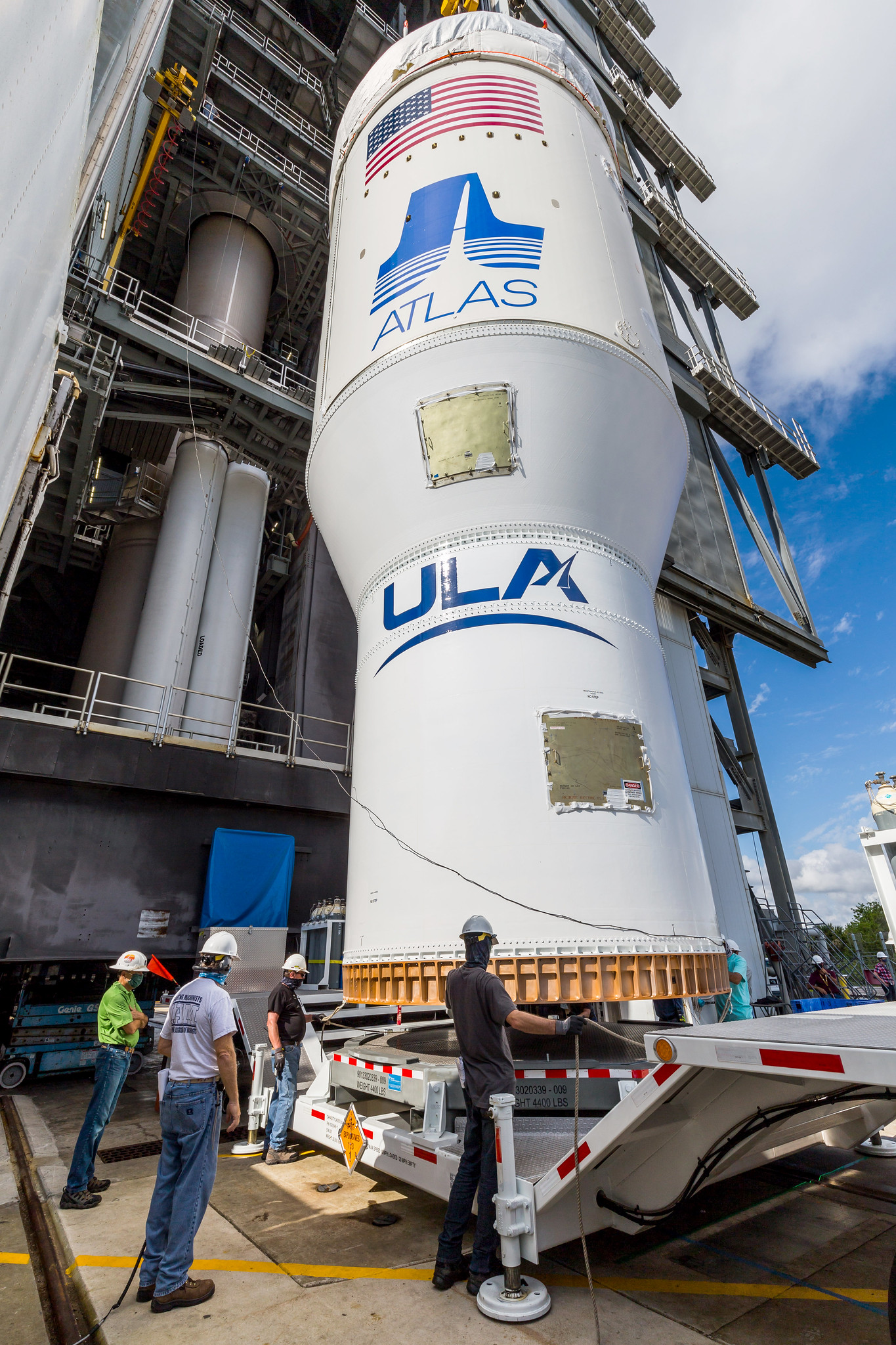 The OVI element is ready to hoist into the VIF. Photo by United Launch Alliance