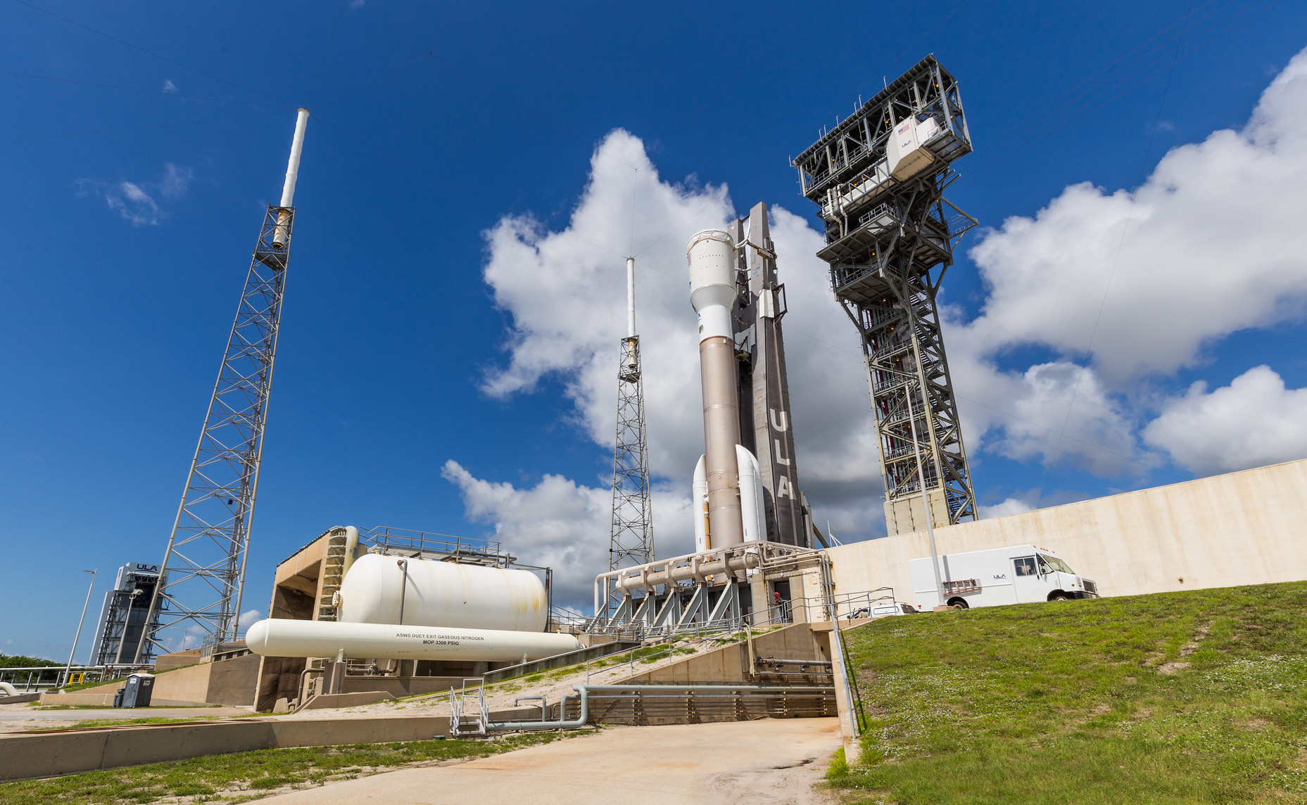 Atlas V on the pad for WDR. Photo by United Launch Alliance