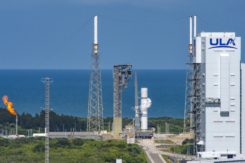 The Pathfinder Tanking Test marks the first time Vulcan has been loaded with both liquid oxygen and liquified natural gas. Photo by United Launch Alliance