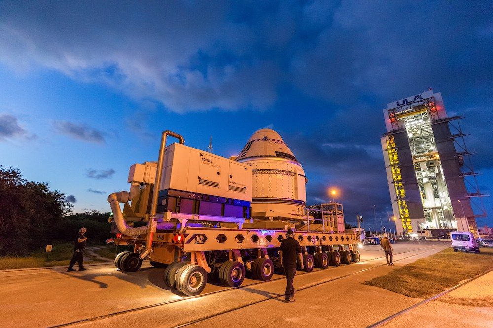 Starliner arrives at the Vertical Integration Facility for the Commercial Crew Program's OFT-2 mission. Photo by United Launch Alliance
