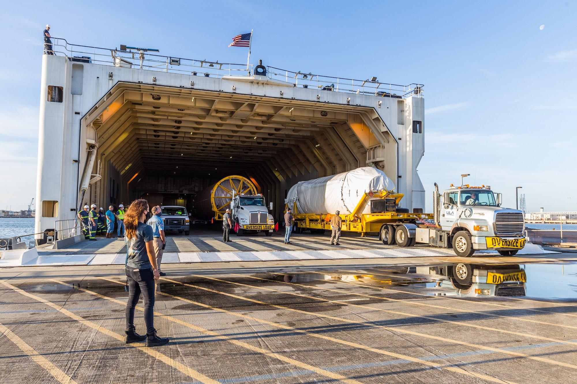 Centaur emerges from RocketShip. Photo by United Launch Alliance