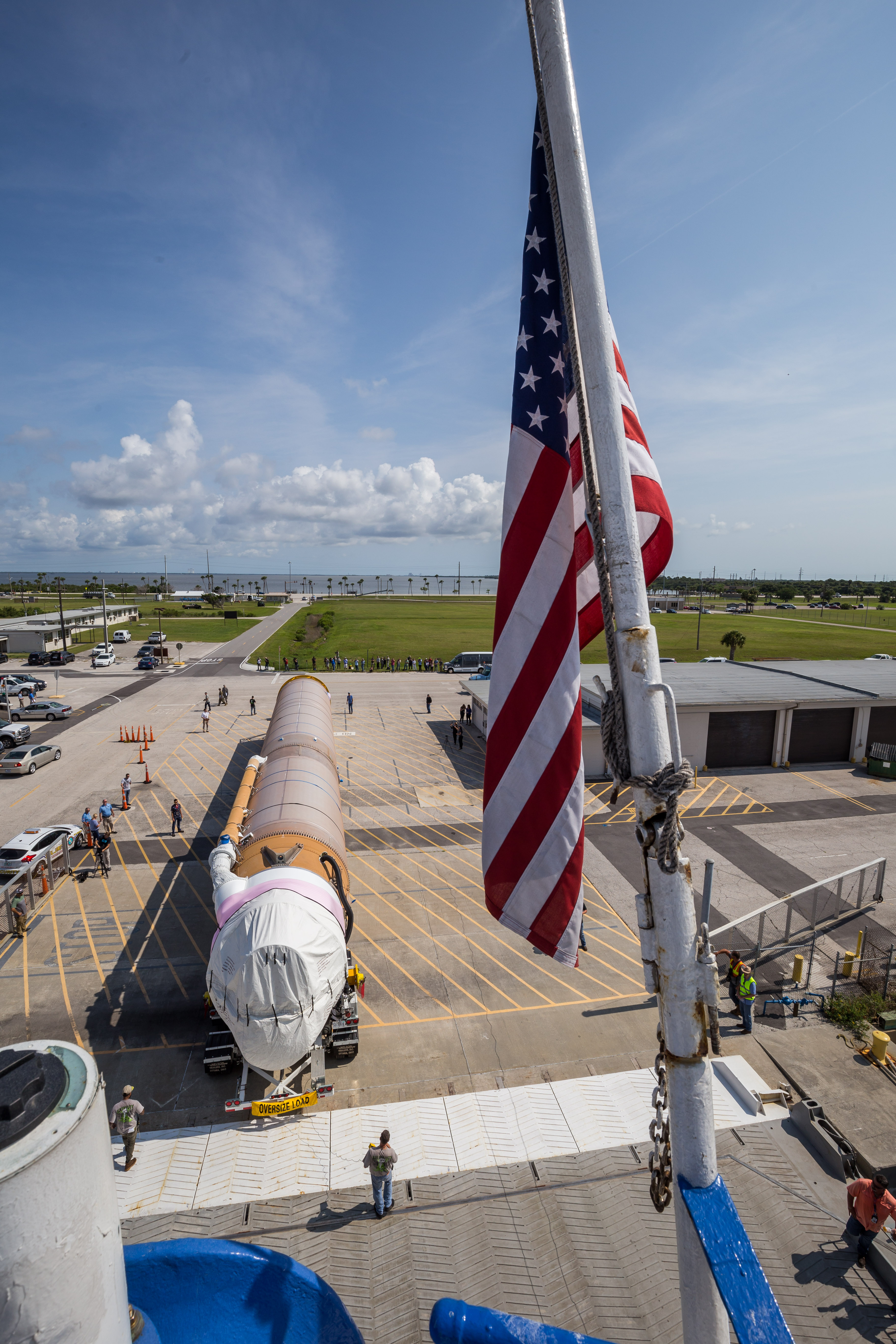 The Atlas first stage for CFT arrives at Cape Canaveral. Photo by ULA
