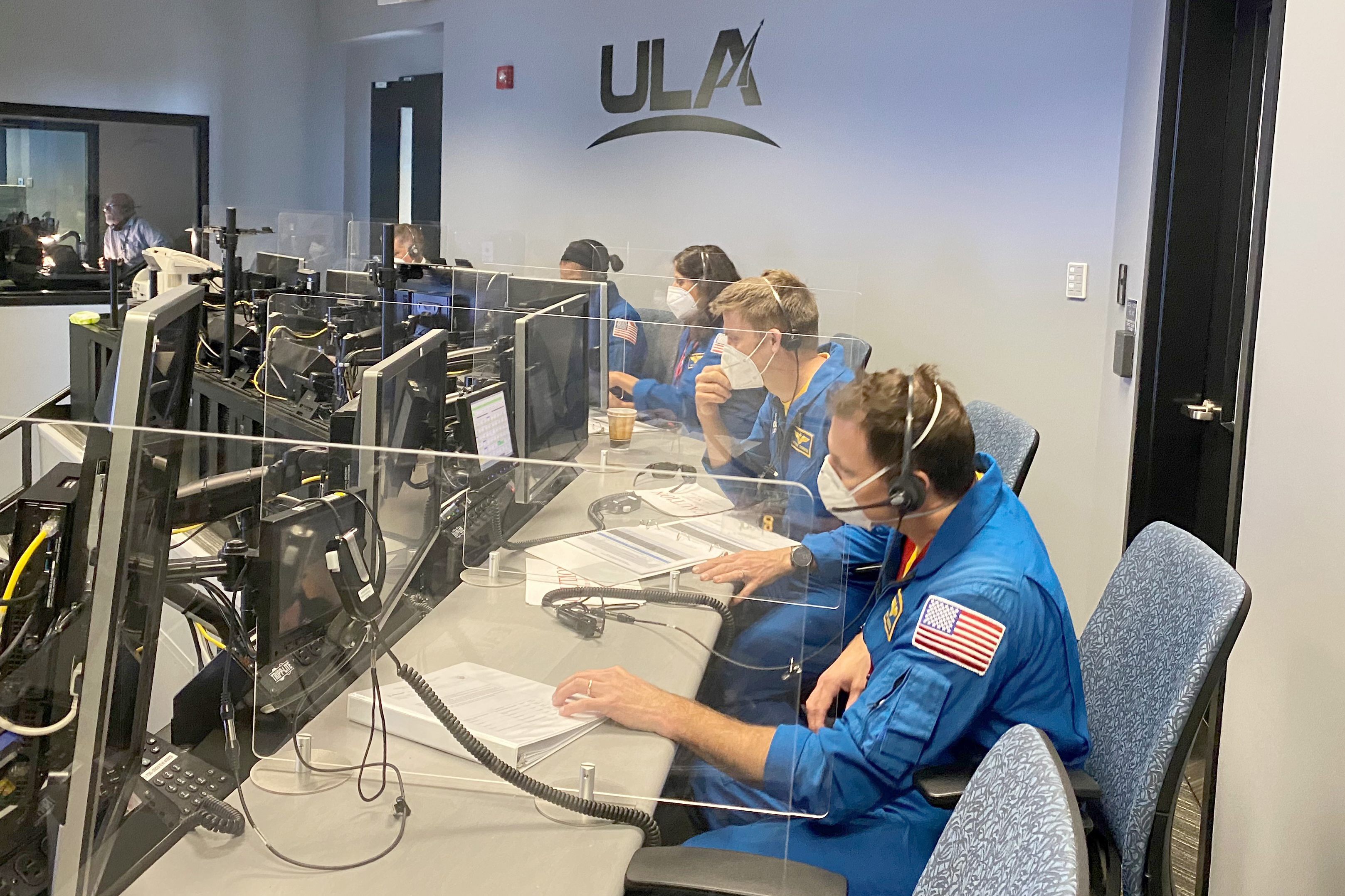 Astronauts participate from the ASOC. Photo by United Launch Alliance