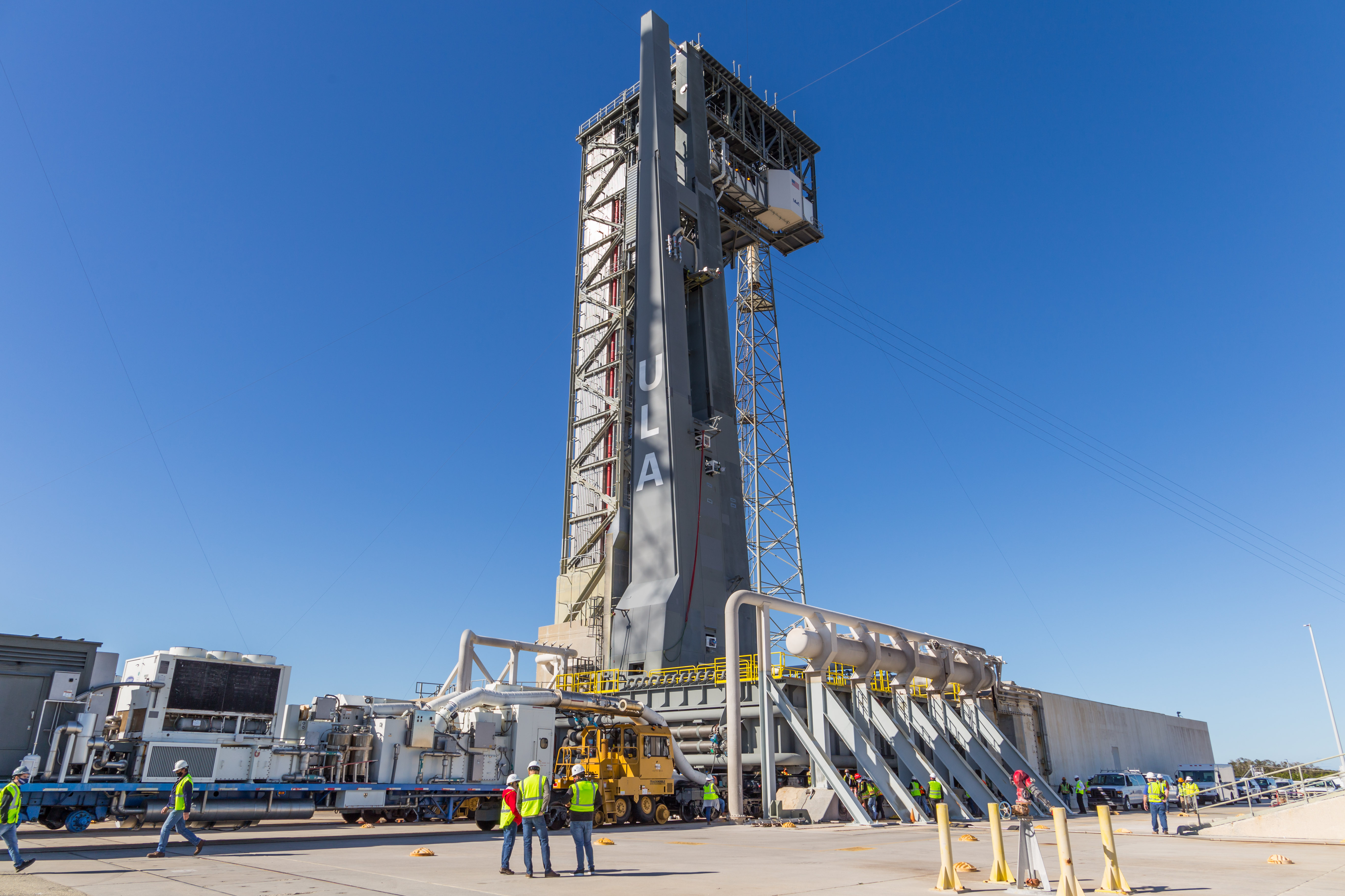The VLP stands atop Space Launch Complex-41 for the first time. Photo by United Launch Alliance