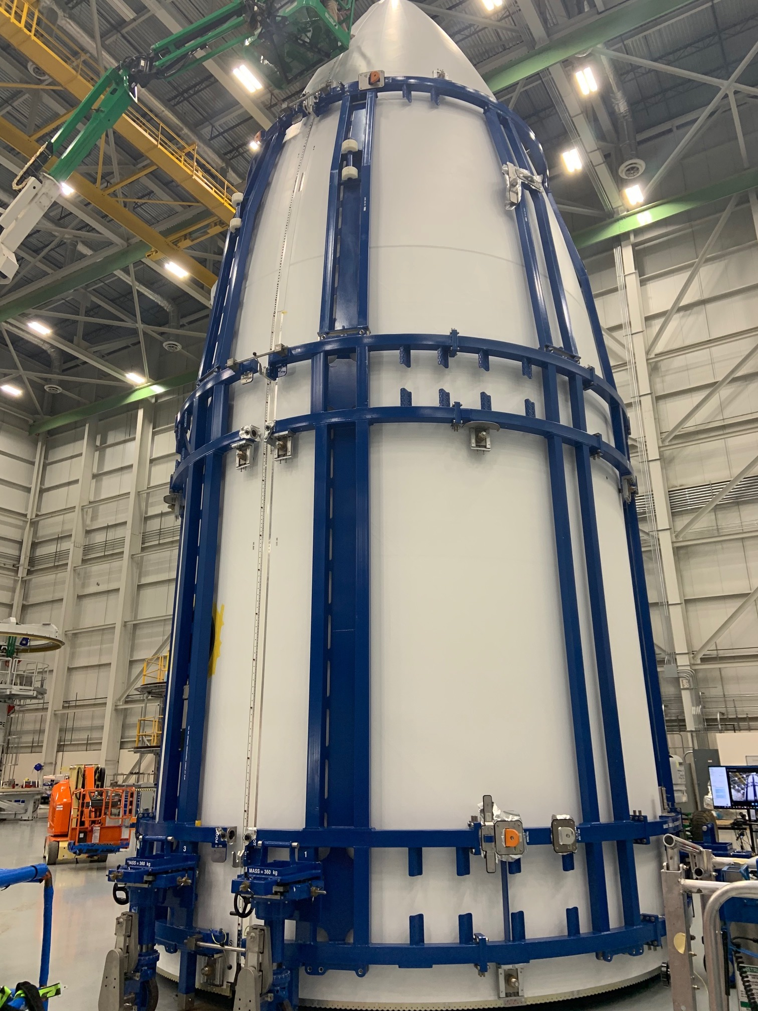 The Out-of-Autoclave (OoA) fairing is manufactured more efficiently at a lower cost. Photo by RUAG Space