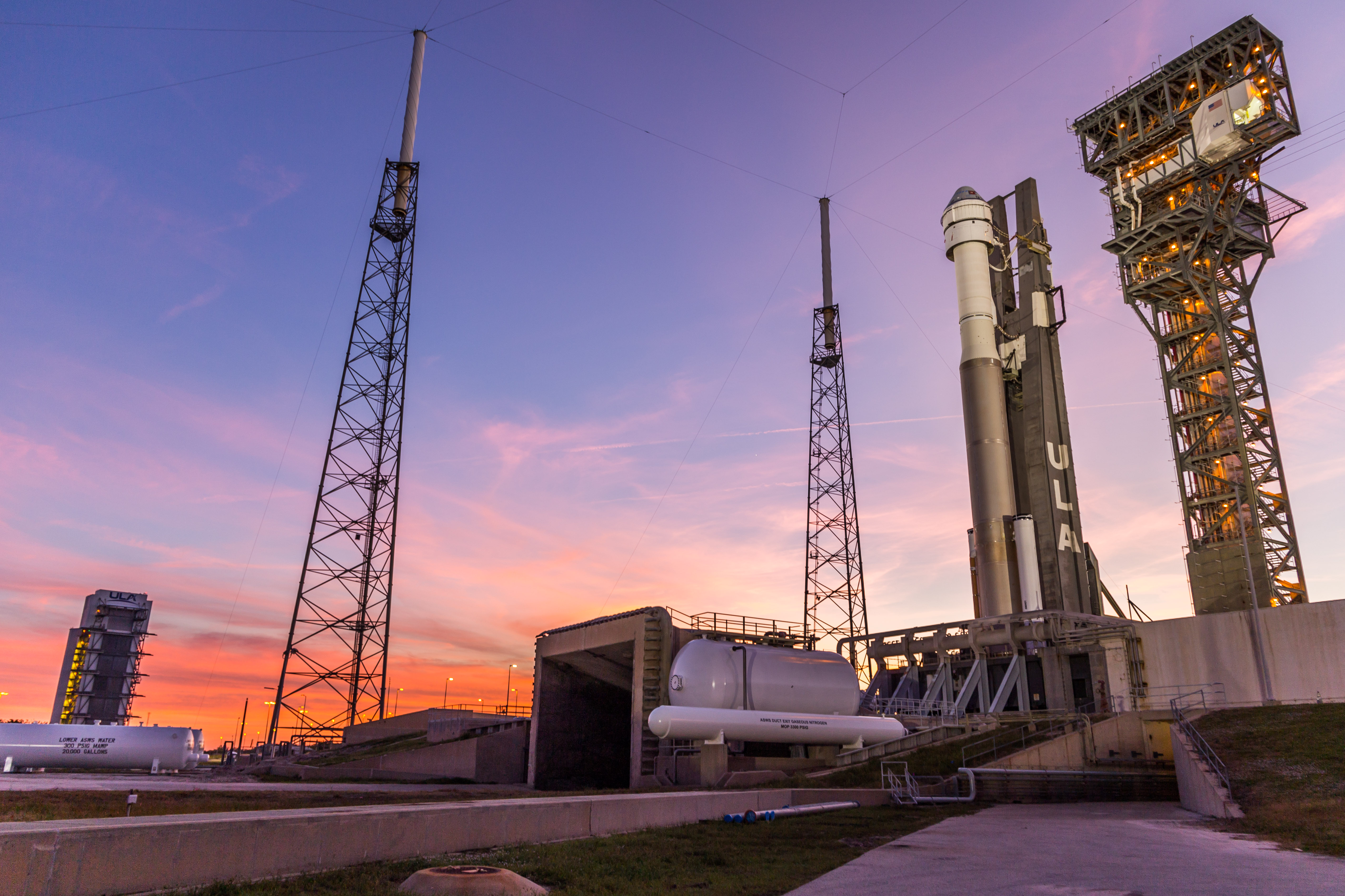 Atlas V Starliner on the pad for IDOLT. Photo by United Launch Alliance